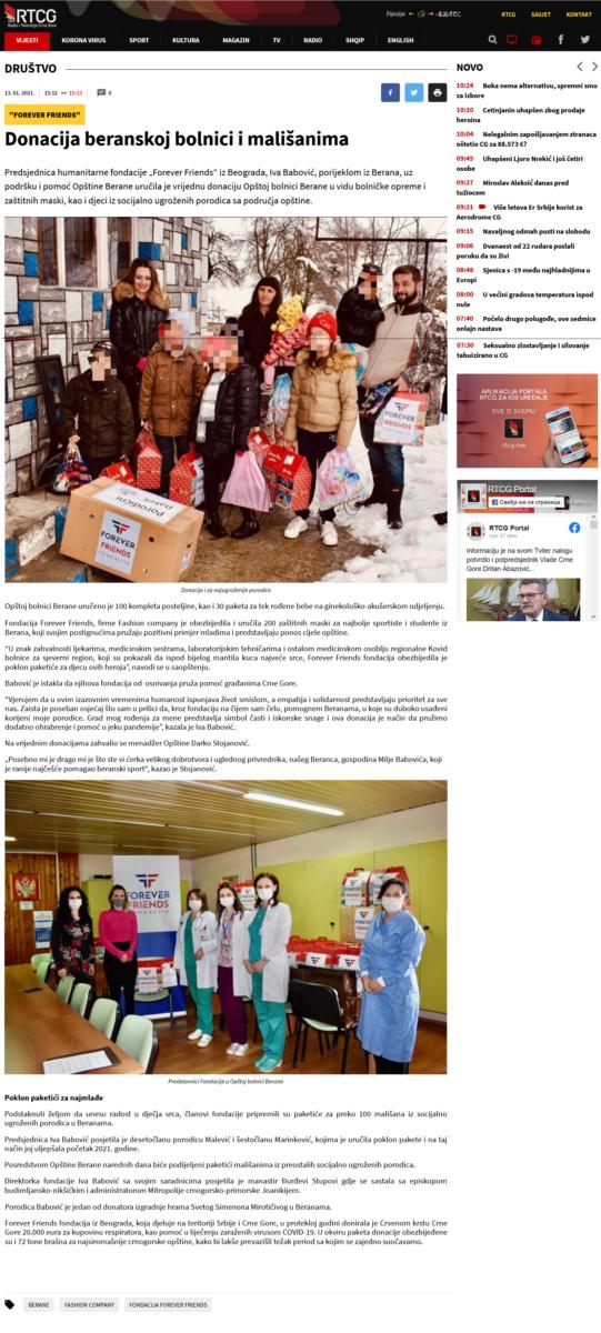 Donacija beranskoj bolnici i mališanima