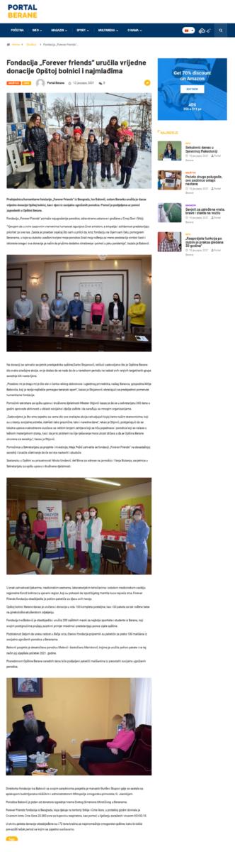"""Fondacija """"Forever friends"""" uručila vrijedne donacije Opštoj bolnici i najmlađima"""
